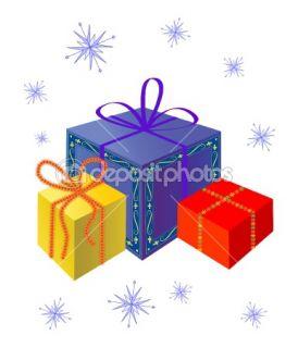Festive gifts.  Stock Vector © Marina Glebova #1345414