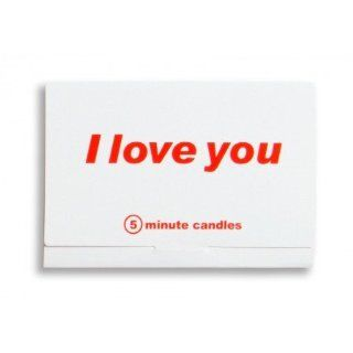 I Love You 5 minute Candle Anniversary / Valentines Day