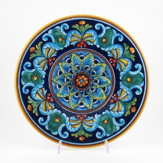 Hand Painted Italian Ceramic 11.8 inch Geometric Wall