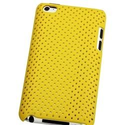 Yellow Rubber Coated Case for Apple iPod touch 4th Gen