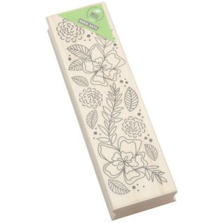 Hero Arts Flower Border Mounted Rubber Stamp