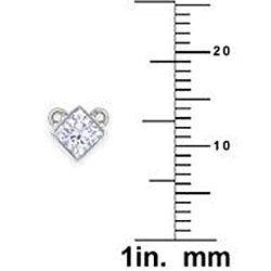 14k Gold 1/3ct TDW Princess cut Diamond Solitaire Necklace (H I, I1