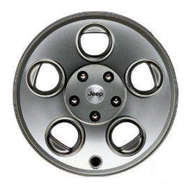 2007 2012 Jeep Wrangler Mopar Wheel, 17x8.5 Classic 5 Hole Silver