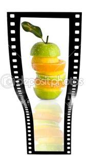 Fruit salad film strip  Stock Photo © Jon Le Bon #3074439