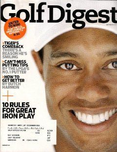 TIGER WOODS GOLF DIGEST JANUARY 2009 TIGERS COMEBACK PLUS BUTCH