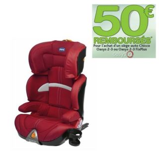 CHICCO Réhausseur Oasys Gr2/3 Fix Plus Red   Achat / Vente SIEGE AUTO