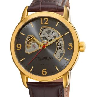 Stuhrling Orginal Mens Delphi Huntsman Skeleton Automatic Watch