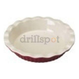 """Bradshaw International 04412 9"""" RED Ceram Pie Plate"""