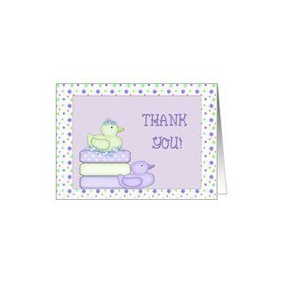 Thank You Baby Shower Ducks Card