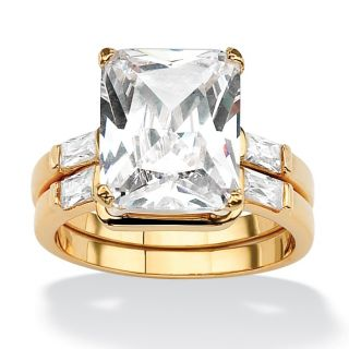 Ultimate CZ Goldplated Cubic Zirconia Ring Set MSRP $75.00 Sale $26