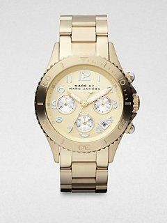 Marc by Marc Jacobs Gold Tone Stainless Steel Bracelet Mens Watch
