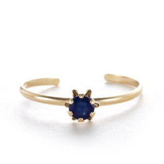 14k Yellow Gold Sapphire September Birthstone Ring