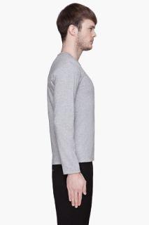 Comme Des Garçons Play  Heather Grey Black Logo Shirt for men