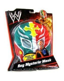 WWE Wrestling Rey Mysterio Mask   Green, Red, with Yellow