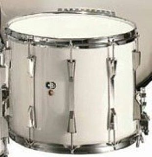 CB 3660 12 x 15 White Marching Snare Drum Musical