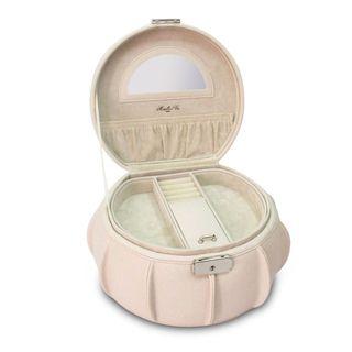 Morelle Cream Allison Leather Jewelry box
