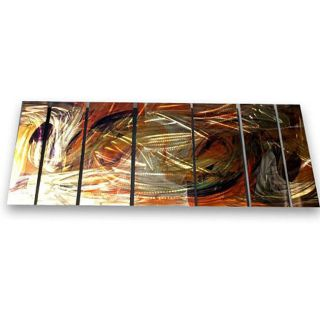 Ash Carl Warm Movement 7 panel Metal Wall Art Today $309.99