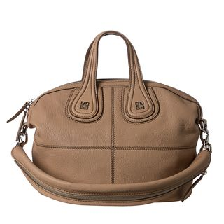 Givenchy Nightingale Small Beige Leather Satchel