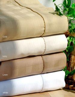 Windowpane 400 Thread Count Sateen Sheet Set (King/White)