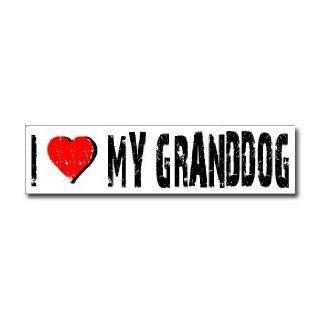 Love My Granddog   Window Bumper Sticker    Automotive
