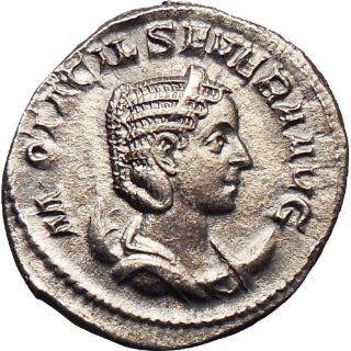 Otacilia Severa Philip I wife 244AD Silver Ancient Roman Coin Harmony