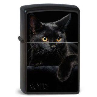 Original Zippo Cat Noir, Schwarze Katze, schwarz matt