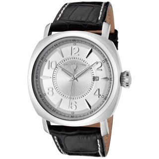Swiss Legend Mens Executive Black Leather Watch