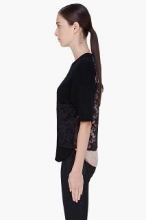 By Malene Birger Black Lace Back Biby Blouse for women