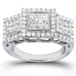 14k White Gold 1ct TDW Diamond Engagement Ring (H I, I2 I3