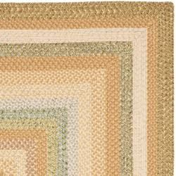 Hand woven Country Living Reversible Tan Braided Rug (8 Square