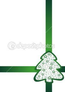 Festive green tapes and fir tree  Stock Vector © ELENA SLEPTSOVA