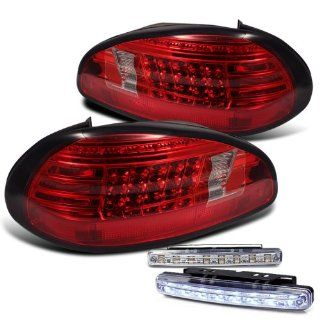 Rxmotoring 2002 Pontiac Grand Prix Tail Light + 8 Led Fog Bumper Lamp