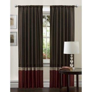 Lush Decor Red 84 inch Villagio Curtain Panel