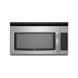 Whirlpool Stainless Steel 1.6 cu ft Microwave Range Hood Combination