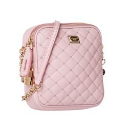 Dolce & Gabbana Baby Pink Quilted Leather Cross body Bag