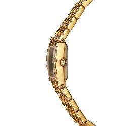 Wittnauer Womens Diamond Romance Yellow Goldplated Stainless Steel