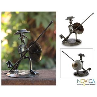 Recycled Auto Parts Quixote in Love Statuette (Mexico)