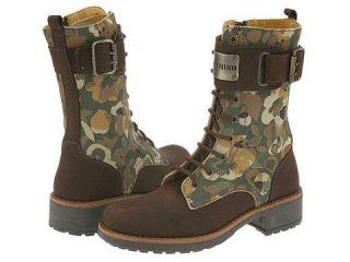 Moschino Kids Footwear 23680 (Youth) Dark Brown/Military Print