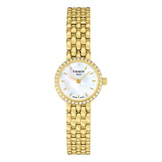 Tissot Womens Lovely Mother of pearl Goldtone Watch