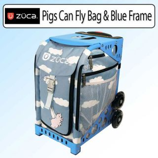 Zuca Sport Kit Pigs Can Fly Blue Frame and Sport Insert Bag