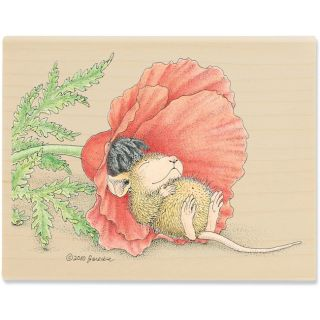 House Mouse Poppy Cat Mounted Rubber Stamp Today $9.59