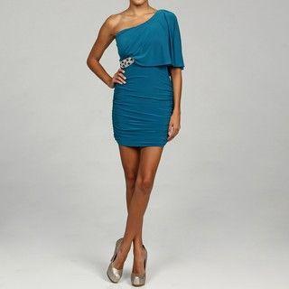 Hailey Logan Juniors Teal Embellished Dress