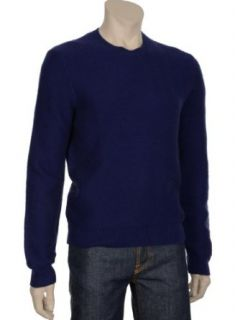 Bloomingdales Mens Navy Blue Crewneck Cashmere Sweater
