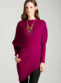 Tracy M Rib pullover in wineberry