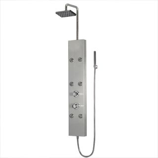 Ariel A301 Stainless Steel Shower Panel with Thermostatic Faucet Today