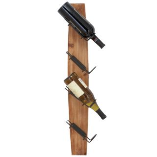 Casa Cortes Fresno Rustic Wall mount 4 Wine Rack Today $49.99