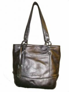Womens B Makowsky Margene Medium Tote Handbag (Pewter
