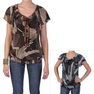 Tressa Designs Womens Contemporary Plus Short sleeve Scoop Neck Top