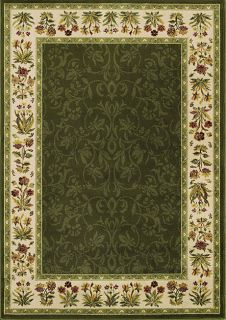 Avalon Green Floral Border Rug (411 x 7)