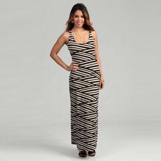 Calvin Klein Womens Khaki/ Black Striped Dress FINAL SALE